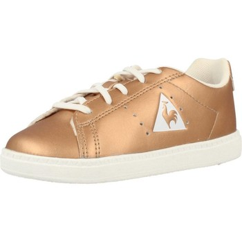 Chaussures Fille Baskets basses Le Coq Sportif COURTONE INF METALLIC D´or