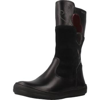Chaussures Fille Bottes ville Geox J HADRIEL G.E Noir