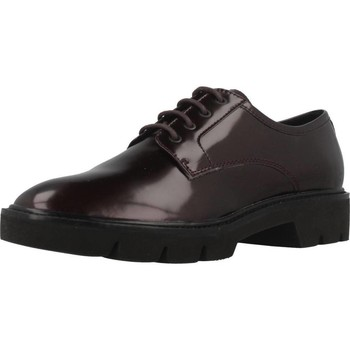 Chaussures Femme Derbies Geox D QUINLYNN Rouge