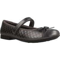 Chaussures Fille Derbies & Richelieu Geox JR PLIE' Noir