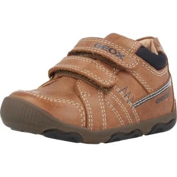 Chaussures Garçon Baskets montantes Geox B NEW BALU' B Brun