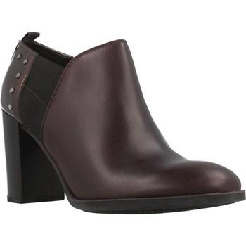 Chaussures Femme Low boots Geox D HERIETE HIGH Marron