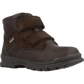 Chaussures Garçon Boots Geox JR WILLIAM B ABX Marron