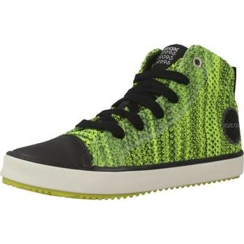 Chaussures Garçon Baskets montantes Geox J ALONISSO B. F Vert