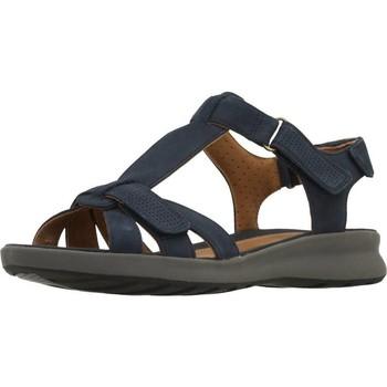 Chaussures Femme Sandales et Nu-pieds Clarks UN ADORN VIBE NAVY NUBUCK Bleu