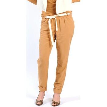 Vêtements Femme Pantalons fluides / Sarouels American Vintage PANTALON LEA139 CUMIN Jaune