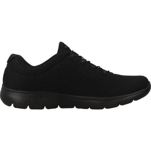 Noir Chaussures 12985s Femme Skechers Baskets Basses QoErdCBxeW