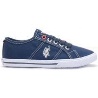 Chaussures Enfant Baskets basses U.S Polo Assn. Ox Canvas Dkbl Kid Bleu