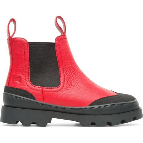 Chaussures Fille Boots Camper Bottes cuir BRUTUS multicolor