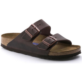 Chaussures Femme Mules Birkenstock Arizona sfb cuir gras Marron