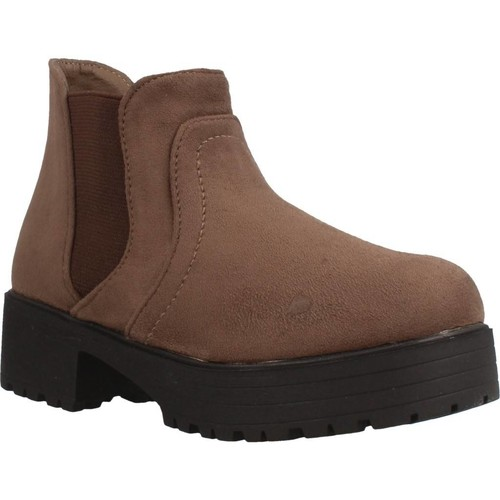 Chaussures Fille Boots Different 4216 Marron
