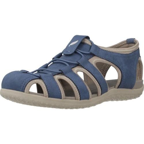 Chaussures Femme Sandales sport Geox D SANDAL VEGA Bleu