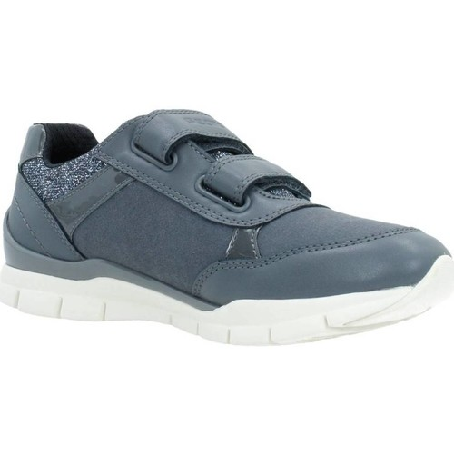 Chaussures Fille Baskets basses Geox J SUKIE GIRL Gris