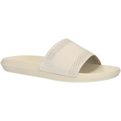 Chaussures Homme Claquettes Lacoste 37CMA0021 CROCO SLIDE Blanco