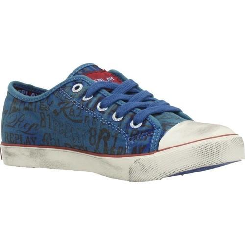 Chaussures Garçon Baskets basses Replay JV080099T Bleu