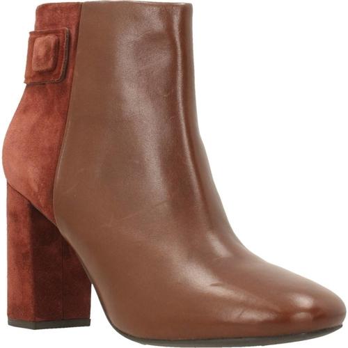 Chaussures Femme Boots Geox D AUDALIES HIGH Marron
