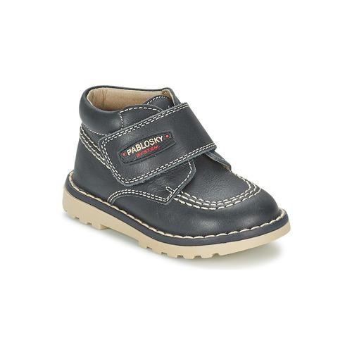 Chaussures Garçon Boots Pablosky TOBAGUIO Marine