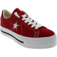Chaussures Fille Baskets basses Converse ONE STAR PLATFORM ROSSE Rouge