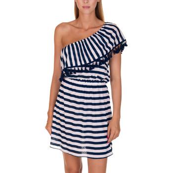 Vêtements Femme Robes courtes Lisca Robe de plage Havana Bleu Marine