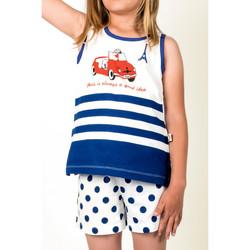 Vêtements Fille Pyjamas / Chemises de nuit Admas Pyjama débardeur et short Nina Paris Bleu Marine