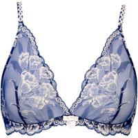Sous-vêtements Femme Triangles / Sans armatures Selmark Soutien-gorge triangle sans armatures Chiara Bleu Marine