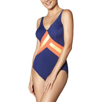 Vêtements Femme Maillots de bain 1 pièce Ory Maillot de bain 1 pièce effet cache-coeur bleu marine Bleu Marine