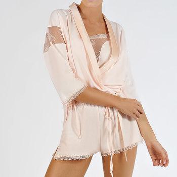 Vêtements Femme Pyjamas / Chemises de nuit Lisca Veste boléro Blossom Rose Poudré