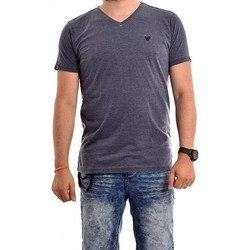 Vêtements Homme T-shirts manches courtes Ritchie T-shirt col V pur coton NAYO Bleu marine