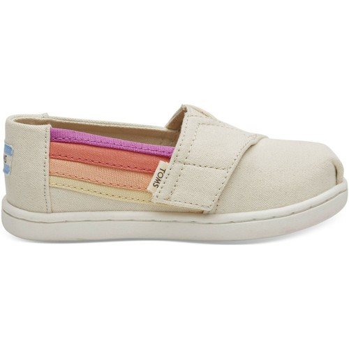 Chaussures Enfant Espadrilles Toms Horizon Canvas Kid's Alpargata Birch