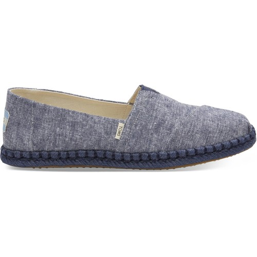 Chaussures Femme Espadrilles Toms Chambray on Rope Women's Alpargata Navy