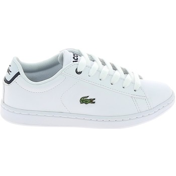Chaussures Baskets basses Lacoste Carnaby Evo BL C Blanc Marine Blanc