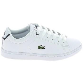 Chaussures Baskets basses Lacoste Carnaby Evo BL C Blanc Marine Blanc
