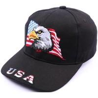 Accessoires textile Homme Casquettes Divers Casquette Aigle drapeau USA Noir Noir
