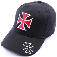 Accessoires textile Homme Casquettes Divers Casquette Croix de malte noir et rouge Noir