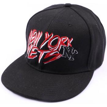 Accessoires textile Homme Casquettes Hip Hop Honour Casquette NY fitted noire et rouge Noir