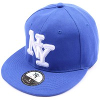 Casquettes Hip Hop Honour Casquette fitted Bleue