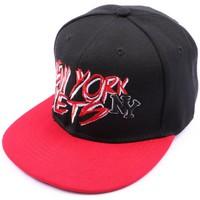 Accessoires textile Homme Casquettes Hip Hop Honour Casquette NY fitted noire et visière rouge Noir