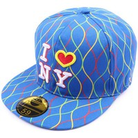 Accessoires textile Homme Casquettes Hip Hop Honour Casquette NY fitted Bleue avec rayures Bleu