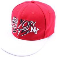 Accessoires textile Homme Casquettes Hip Hop Honour Casquette fitted rouge et visière blanche Rouge