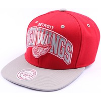 Casquettes Mitchell And Ness Snapback Detroit Redwings Rouge et Grise