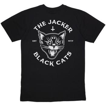Vêtements Homme T-shirts manches courtes Jacker Black cats Noir