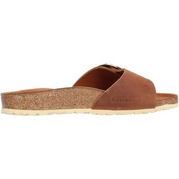 Chaussures Femme Mules Birkenstock - Madrid big buckle cuoio 1006525 MARRONE