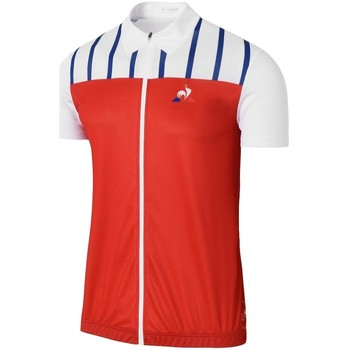 Vêtements Homme Polos manches courtes Le Coq Sportif Maillot Cycliste Homme  Tdf Cycling Jersey Blanc rouge