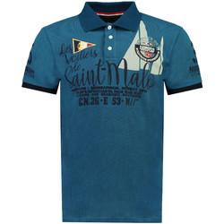 Vêtements Homme Polos manches courtes Geographical Norway Polo manches courtes KALO bleu