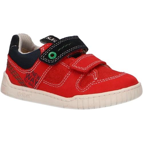 Chaussures Enfant Baskets basses Kickers 694150-10 WAHOU Rojo