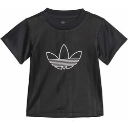 Vêtements Fille T-shirts manches courtes adidas Originals OUTLINE JERSEY NERA Noir