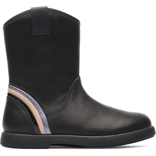 Chaussures Fille Bottes ville Camper Twins K900181-002 Bottes Enfant noir