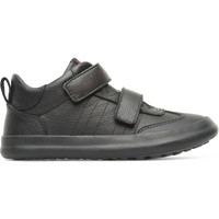 Chaussures Garçon Baskets basses Camper Baskets velcro cuir PURSUIT noir