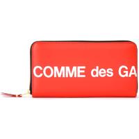 Sacs Femme Portefeuilles Comme Des Garcons Portefeuille  Huge Logo zip autour Rouge