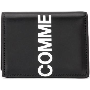 Sacs Homme Portefeuilles Comme Des Garcons Portefeuilles  Huge Logo en cuir Noir